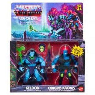 Mattel Master Of The Universe Rise Of Evil: Keldor & Origins Kronis 2 Pack