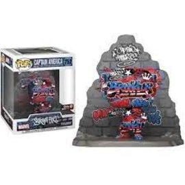 Funko Marvel Art Series: Captain America Gamestop Exclusive Funko POP! #752