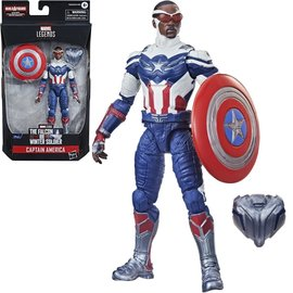 "Hasbro Marvel Legends The Falcon and the Winter Soldier: Captain America (Sam Wilson) 6"" Figure"