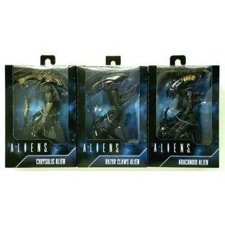NECA NECA: Aliens 3 pack (Arachnoid, Razor Claws, and Chrysalis Aliens)