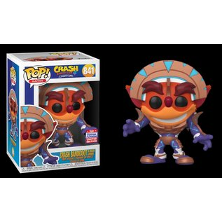 Funko Crash Bandicoot 4 Its About Time: Crash Bandicoot in Mask Armor 2021 Summer Convention Exclusive Funko POP! #841
