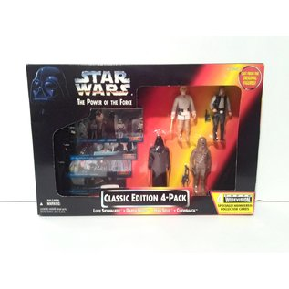 Star Wars: Power of the Force Classic Edition 4 Pack (Luke Skywalker, Darth Vader, Han Solo, and Chewbacca)