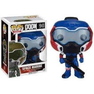 Funko Doom: Doom Marine (Blue/Red) Gamestop Exclusive Funko POP! #90