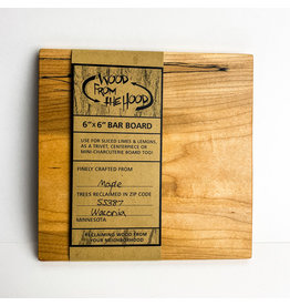 Wood From the Hood 6x6 Serving Board