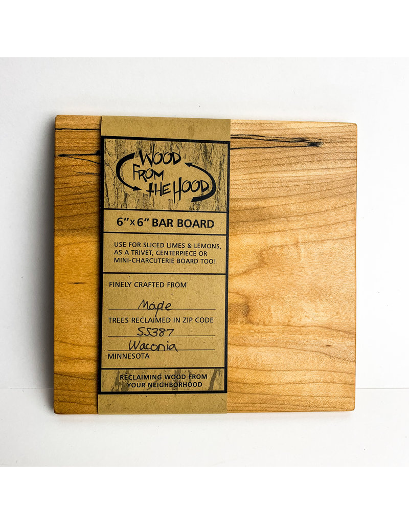Wood From the Hood 6x6 Serving Board - OL