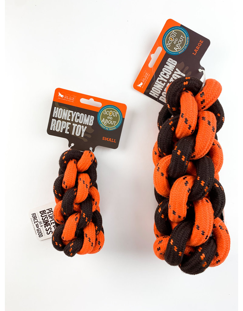 Pet Play Scout And About Honeycomb Rope Toy Small