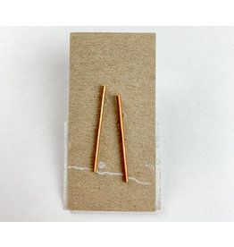 Mountain Metal Artisan Jewelry - consignment MM1 Brass bar studs - consignment
