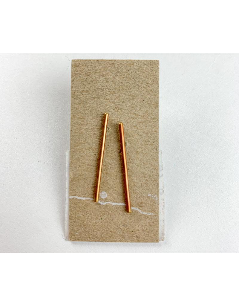 Mountain Metal Artisan Jewelry - consignment MM1 Brass bar studs - consignment