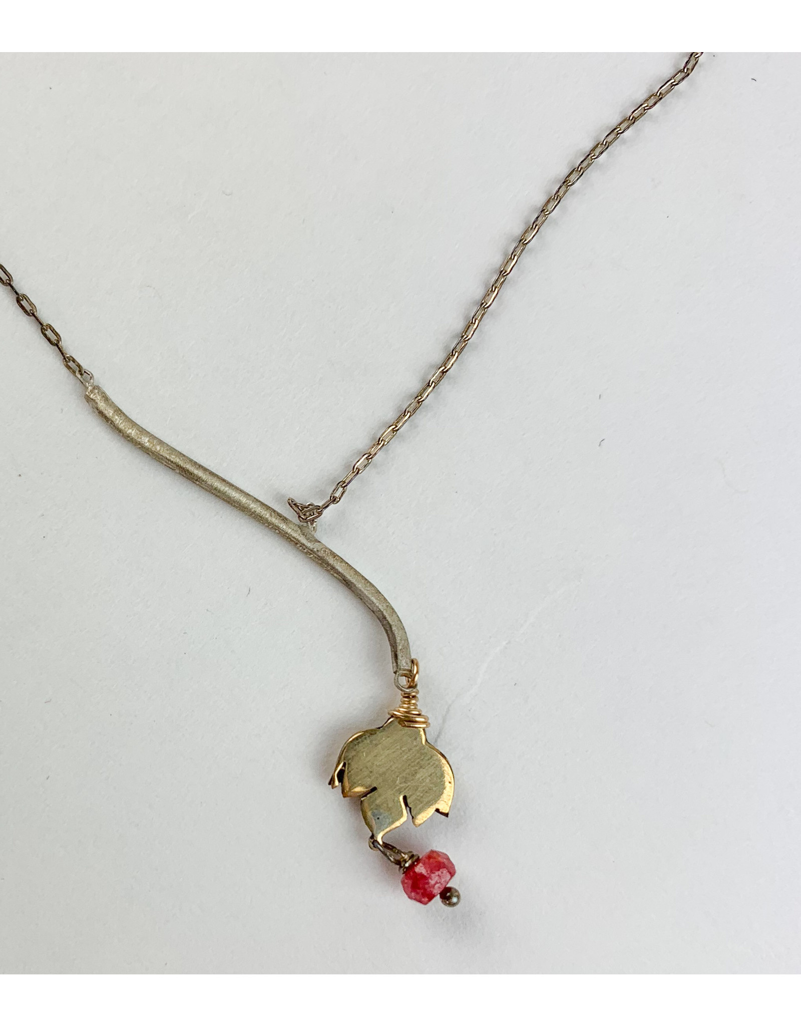 penny larsen Lotus Ruby necklace