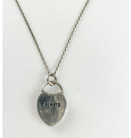 "penny larsen Heart Pendant Necklace 22"" S/S"