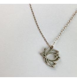 penny larsen Cutout Lotus Necklace
