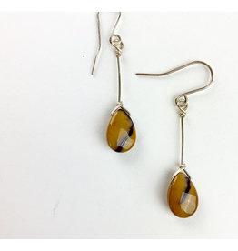 Nicole Collodoro Faceted Mookite Amazonite Earrings