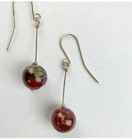 Nicole Collodoro Jasper sphere earrings