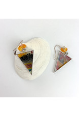 Fovea Works Consignment Artist FW3 Kimono Rags w Amber and silver earrings