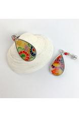 Fovea Works Consignment Artist FW5 Tear Drop Kimono Rag Post Earrings