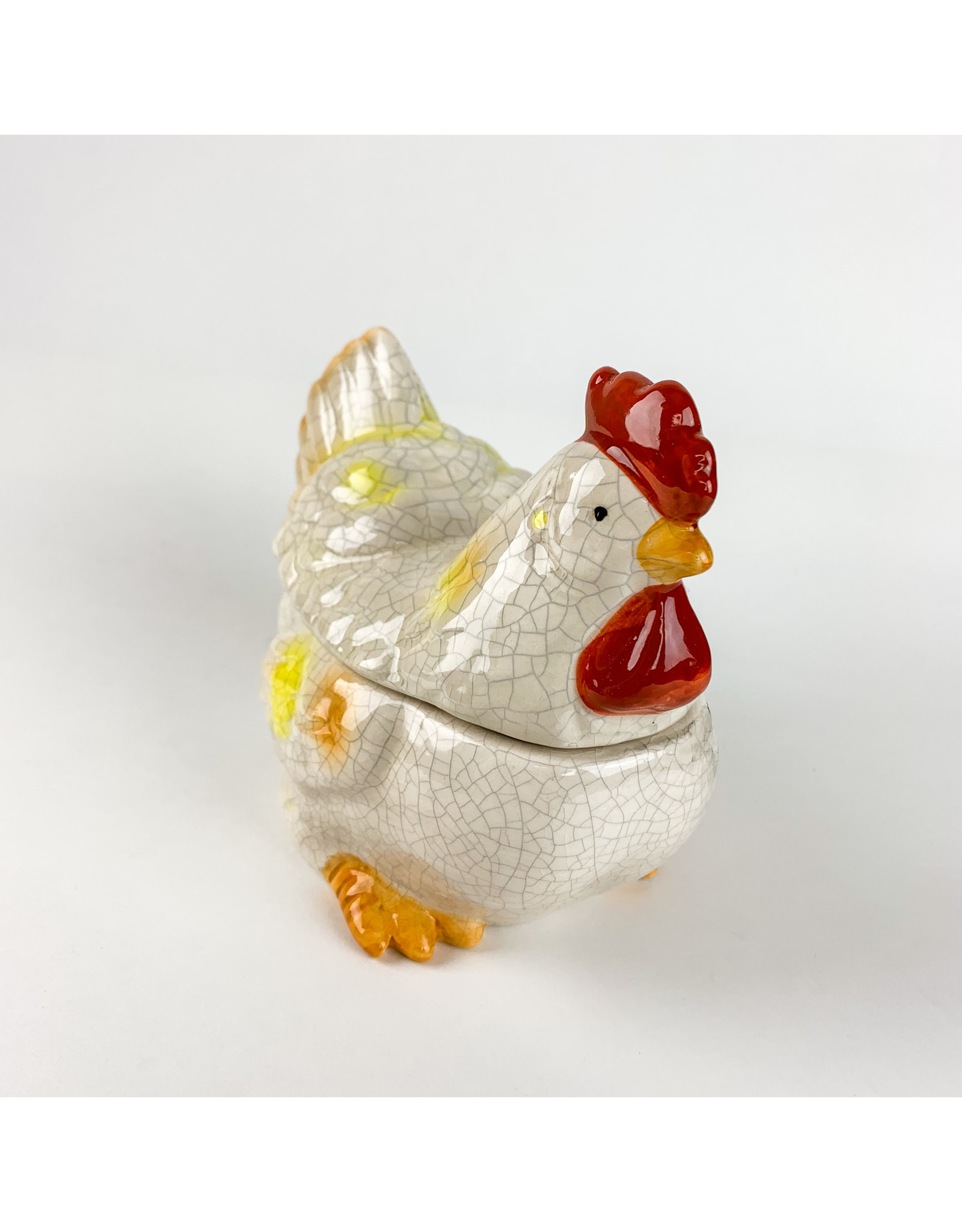 Creative Co-Op Stoneware Rooster Jar