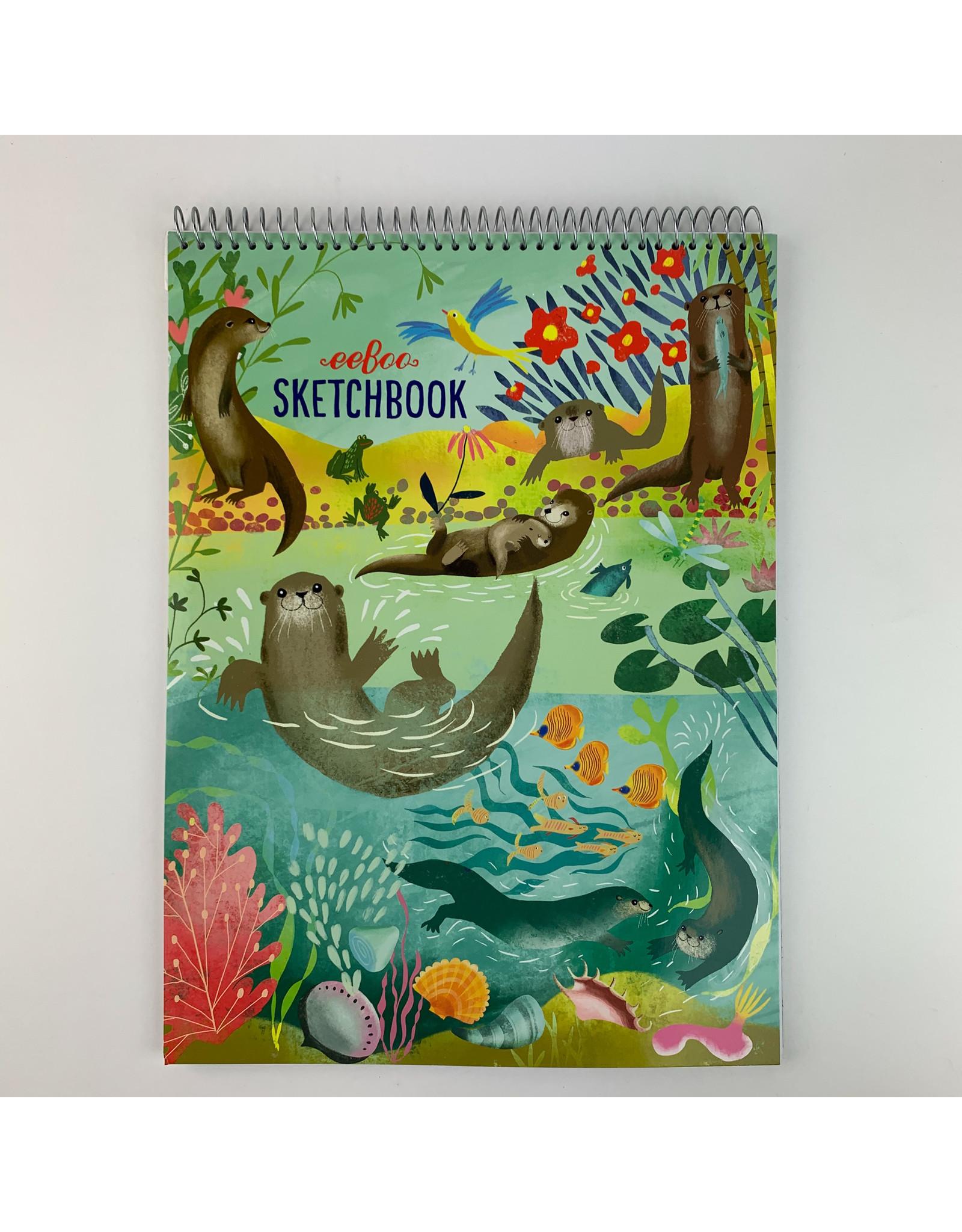 Eeboo Otters at Play-sketchbook