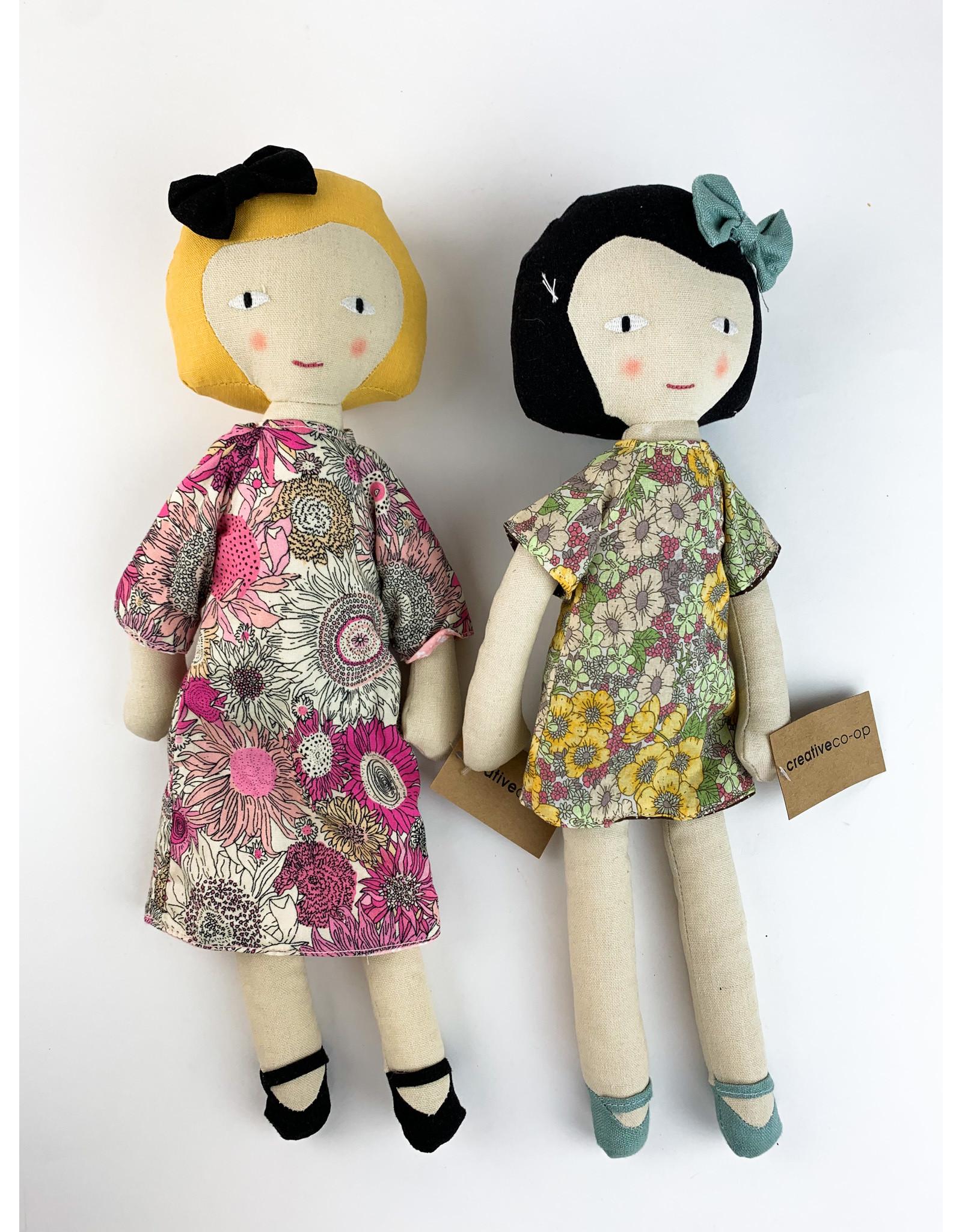 Creative Co-Op Cotton Plush Girl Doll
