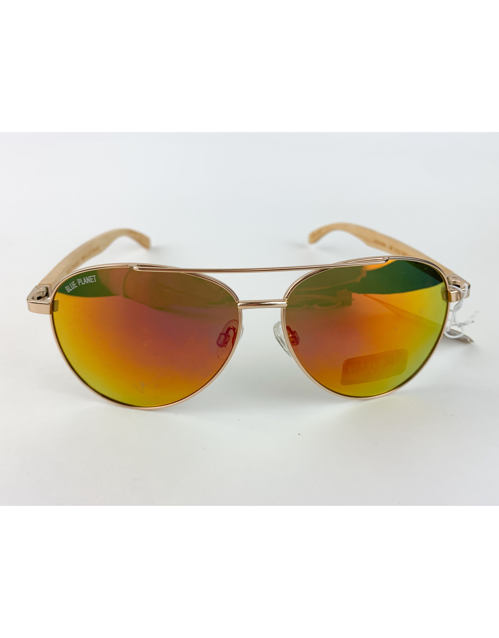 Blue Planet Sunglasses Amador Matte Gold Beeechwood