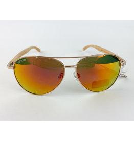 Blue Planet Sunglasses Amador Matte Gold Beeechwood