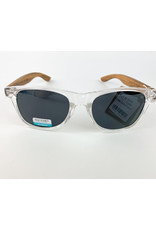 Blue Planet Sunglasses Bodie Crystal Clear Zebra Wood