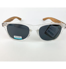 Blue Planet Sunglasses Bodie Crystal Clear Zebra Wood