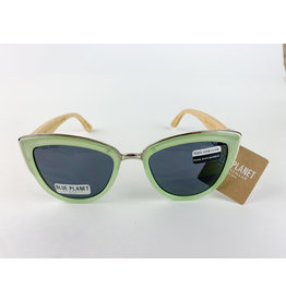 Blue Planet Sunglasses Bailey Jade Green Bamboo