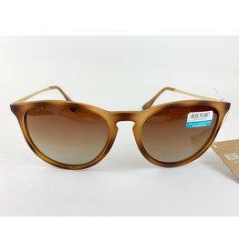 Blue Planet Sunglasses Kelsea Matte Marble Brown