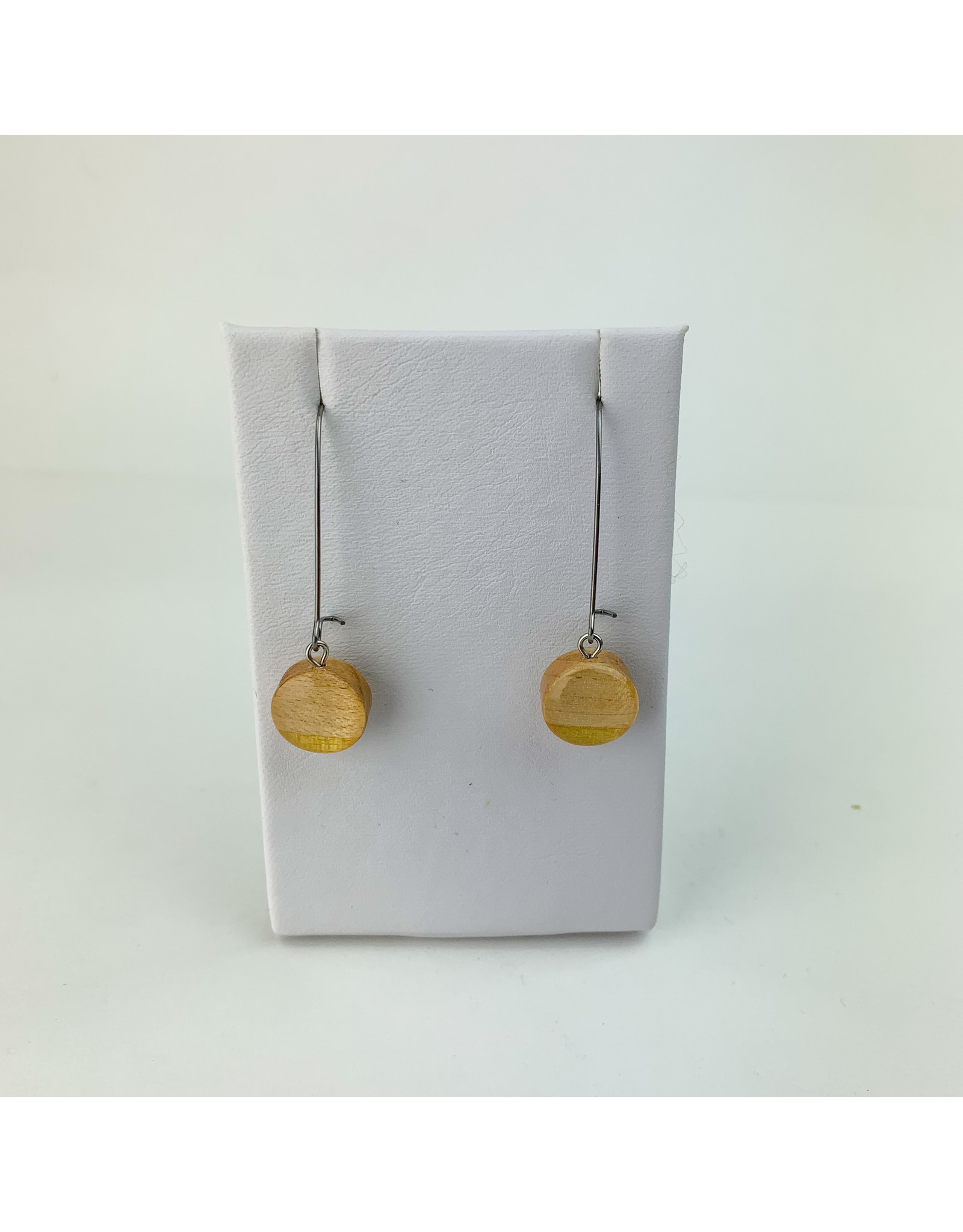Melinda Wolff-consignment earrings; circle w/ loop - E3-L consignment