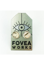 Fovea Works Consignment Artist FW21 Birch Bark in Resin Studs
