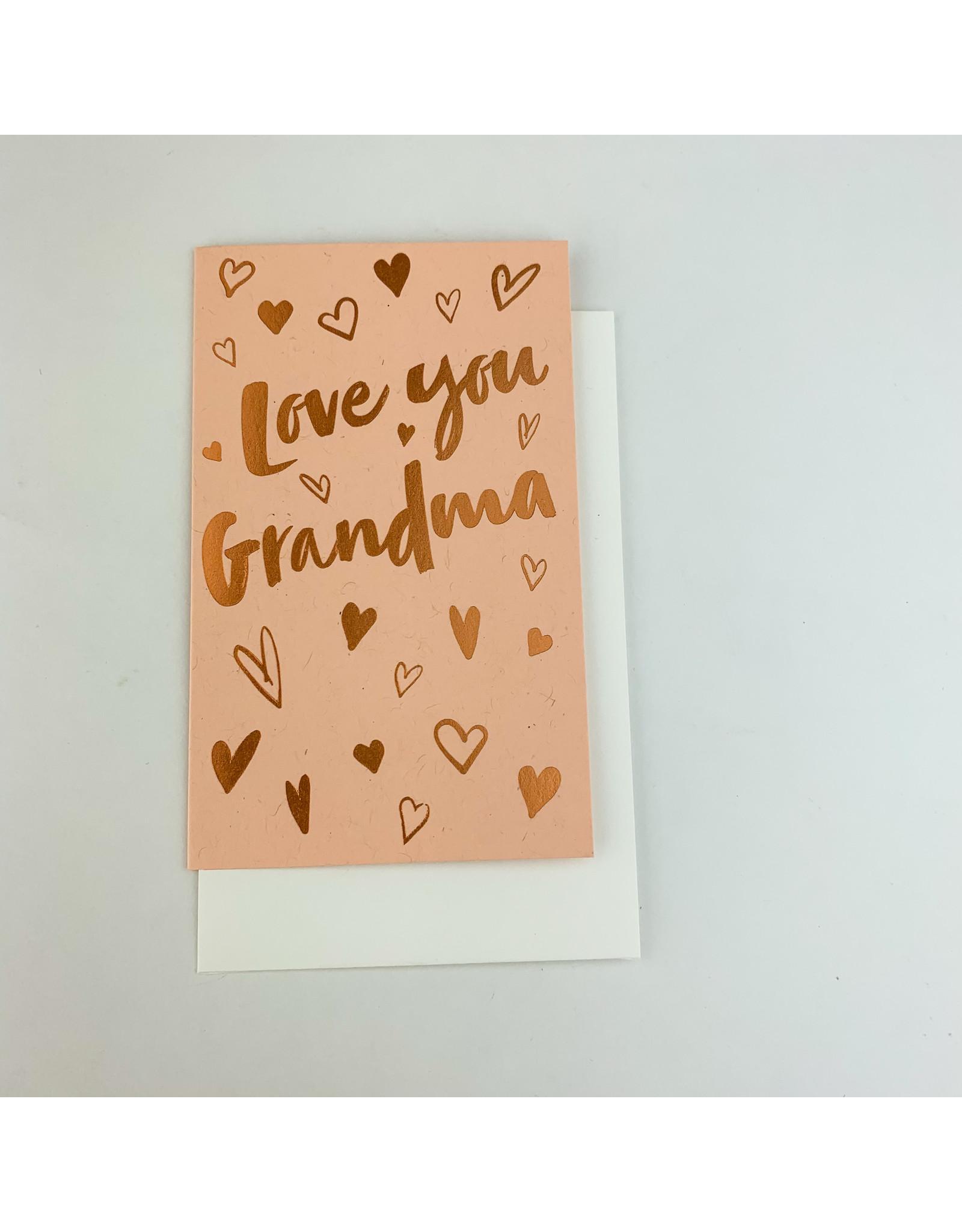 Anemone Letterpress Love Grandma