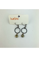 Harlow Juniper O ring earrings