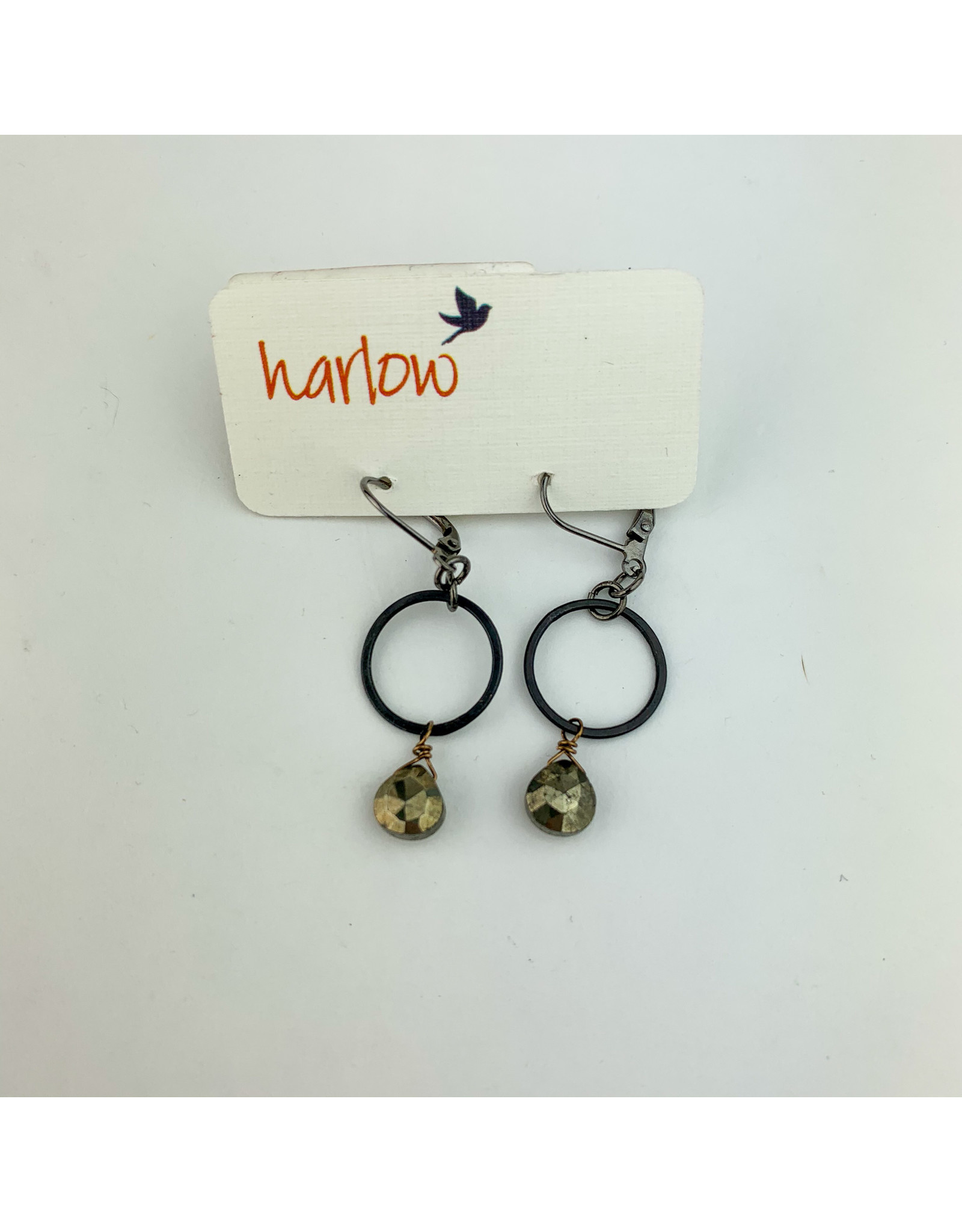 Harlow Juniper O ring earrings
