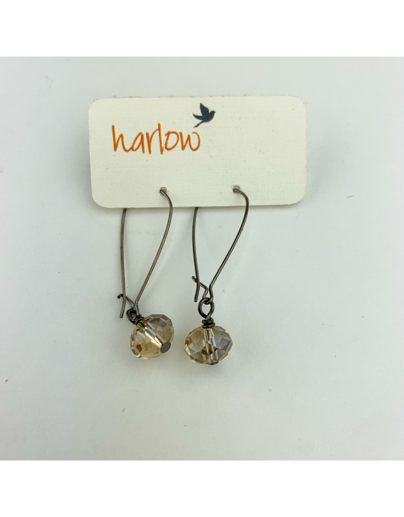 Harlow Champagne Crystal earrings