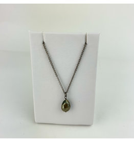 Harlow Lg. Juniper/Pyrite necklace
