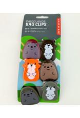 Kikkerland Woodland Bag Clips