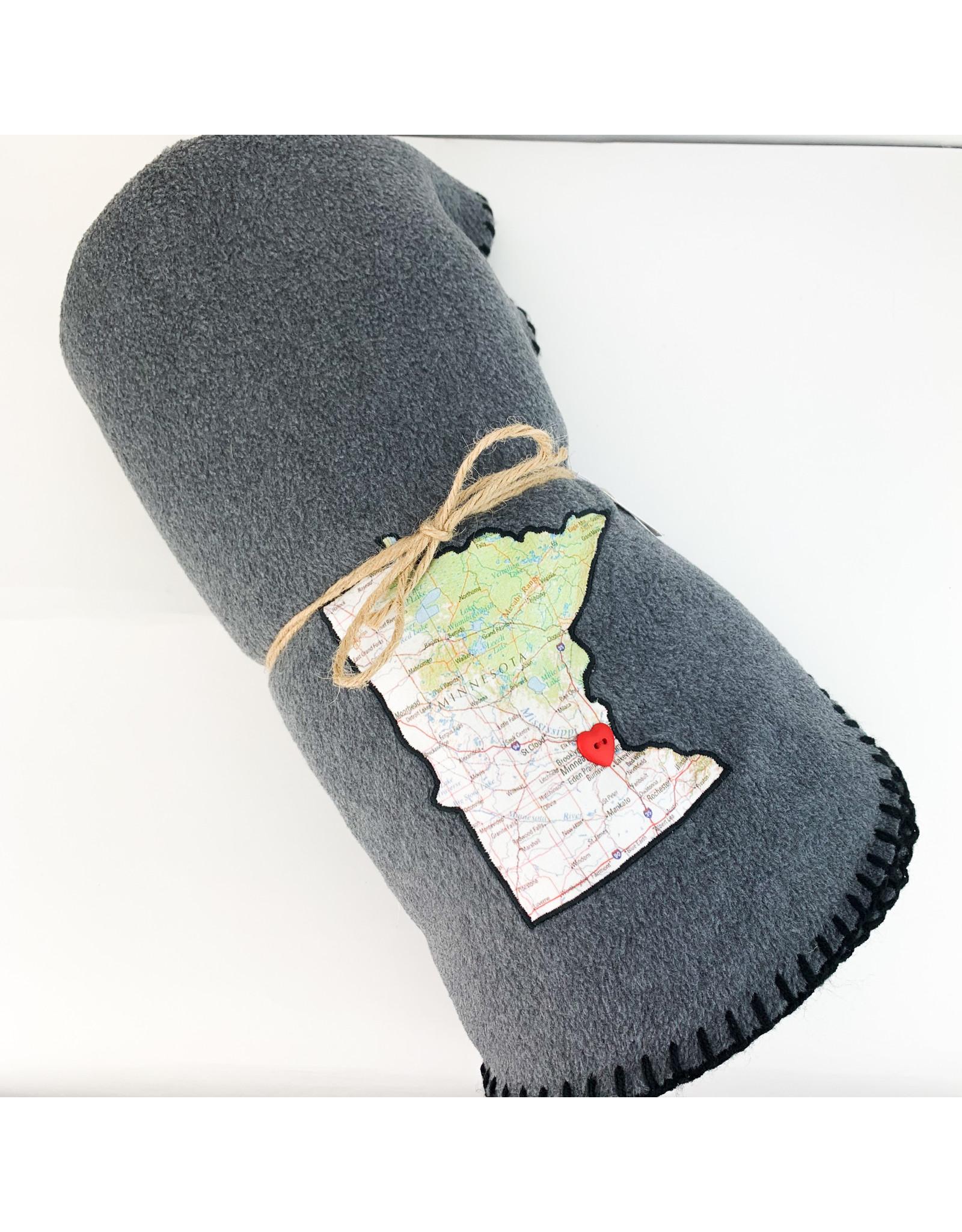 Taylor&Coultas American Mn. Map blanket