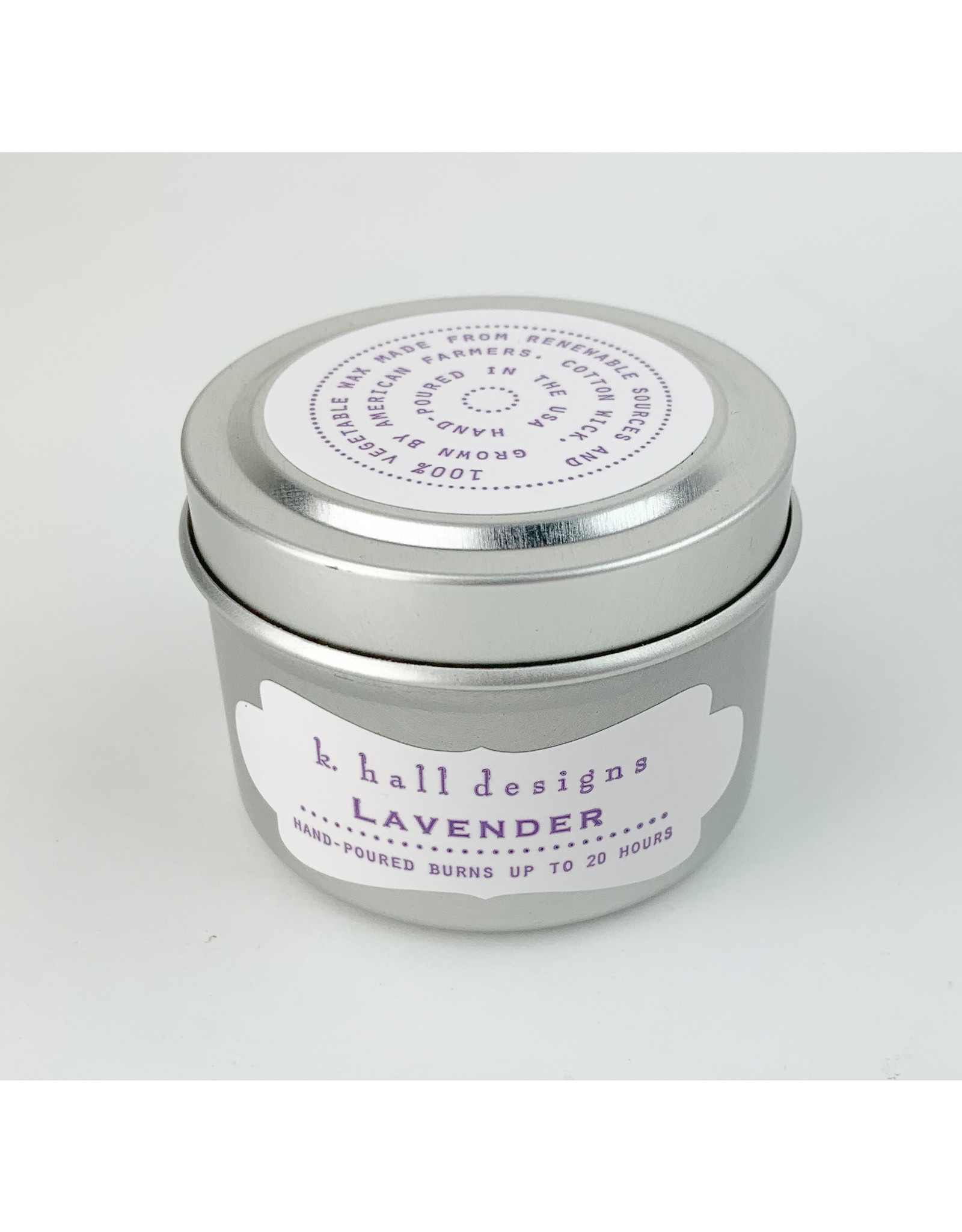 K. Hall Lavender travel candle
