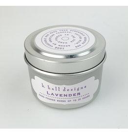 K. Hall Lavender travel candle