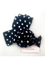 Violet & Brooks Blk. & white dot scarf