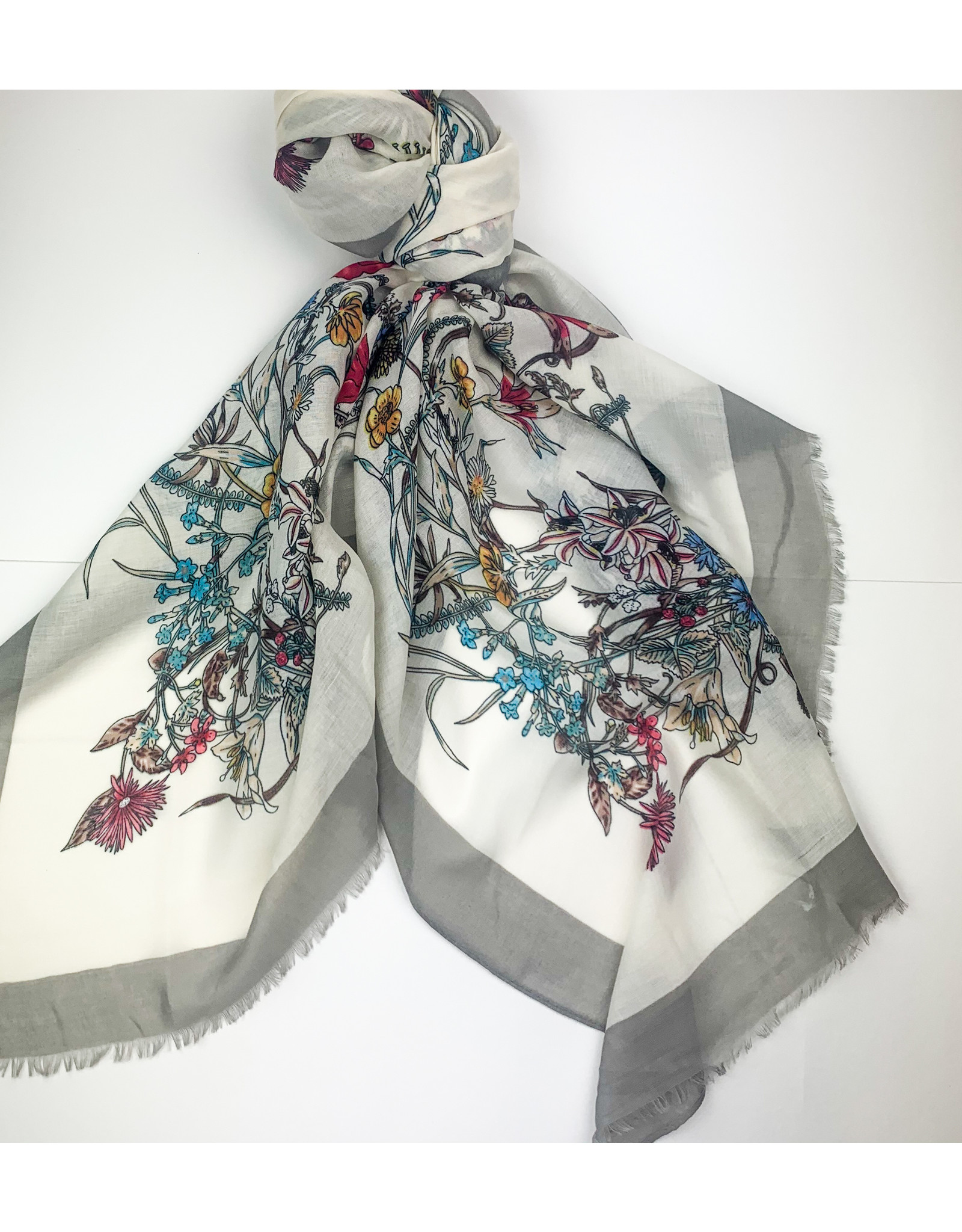 Joy Accessories Grey Trellis scarf