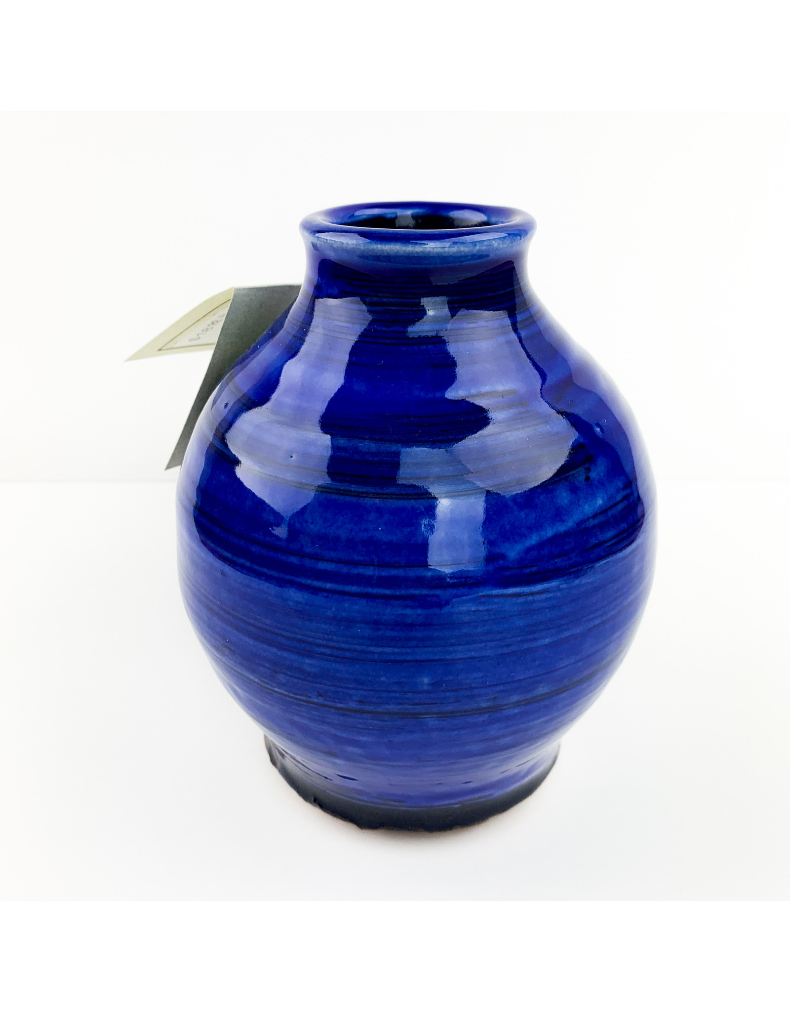 Frog town Pottery-consignment Blue Vases (766)