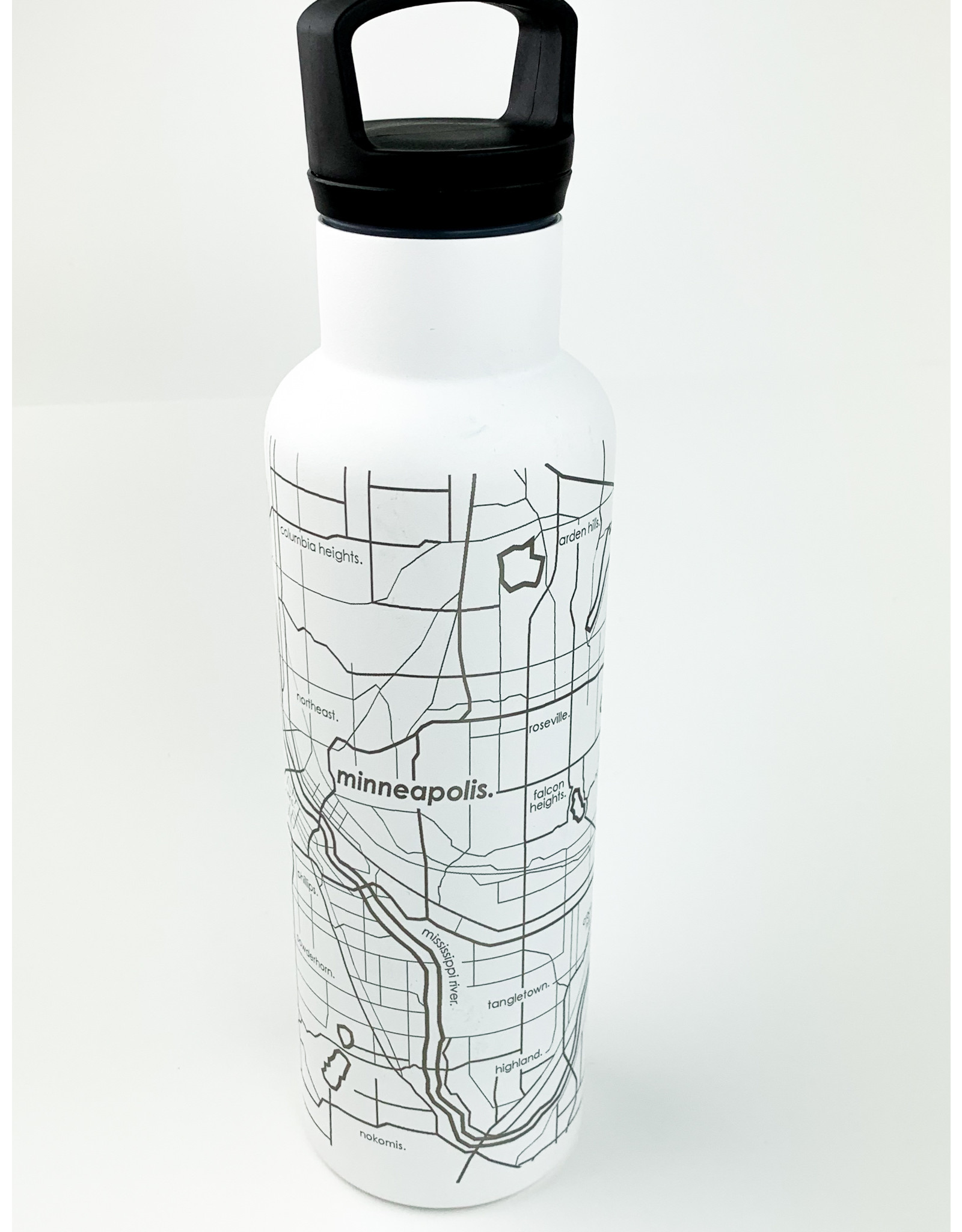 Well Told Hydration Bottle Twin Cities White