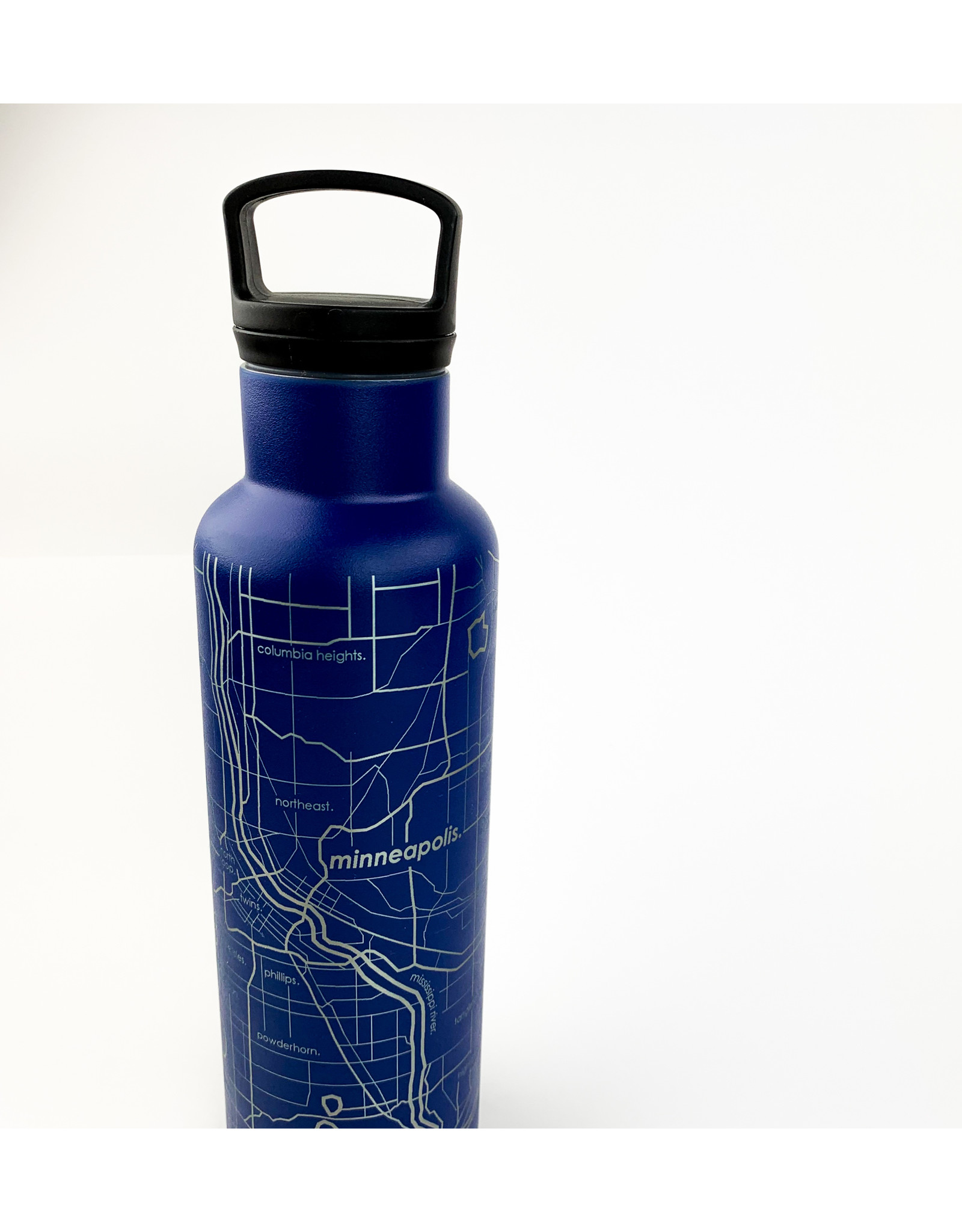Well Told Hydration Bottle Twin Cities Blue