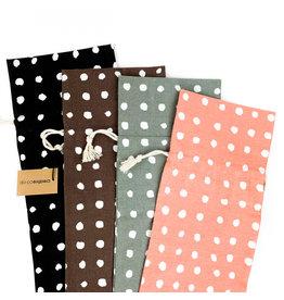 Creative Co-Op Woven Cotton Polka Dot Bag