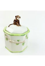 Creative Co-Op Painted Jar with Monkey