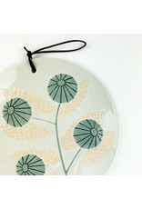 Creative Co-Op Floral Patter Ceramic Cheese Board