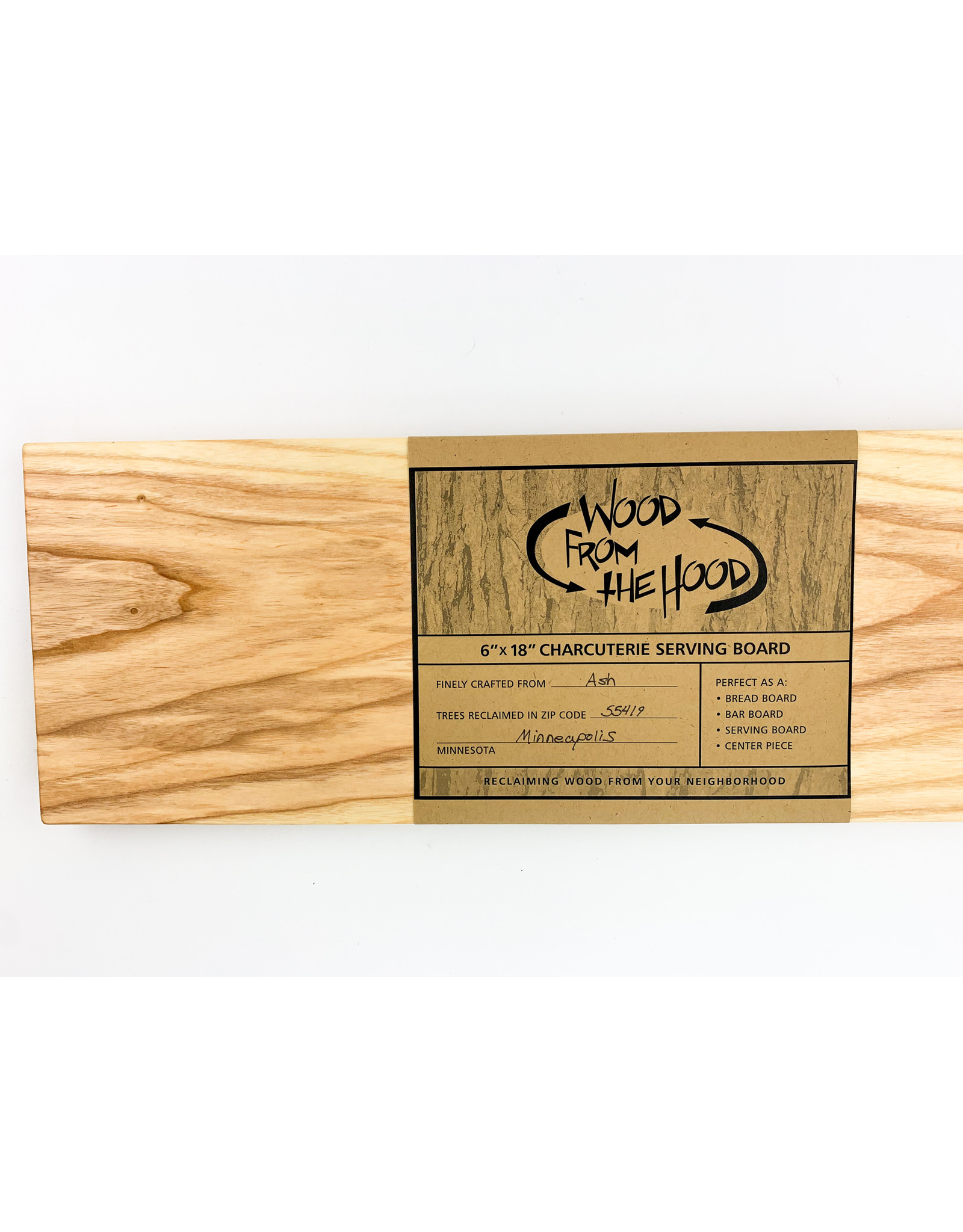 Wood From the Hood 6X18 Serving Board