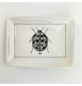 Creative Co-Op Ceramic Dish with Ladybug