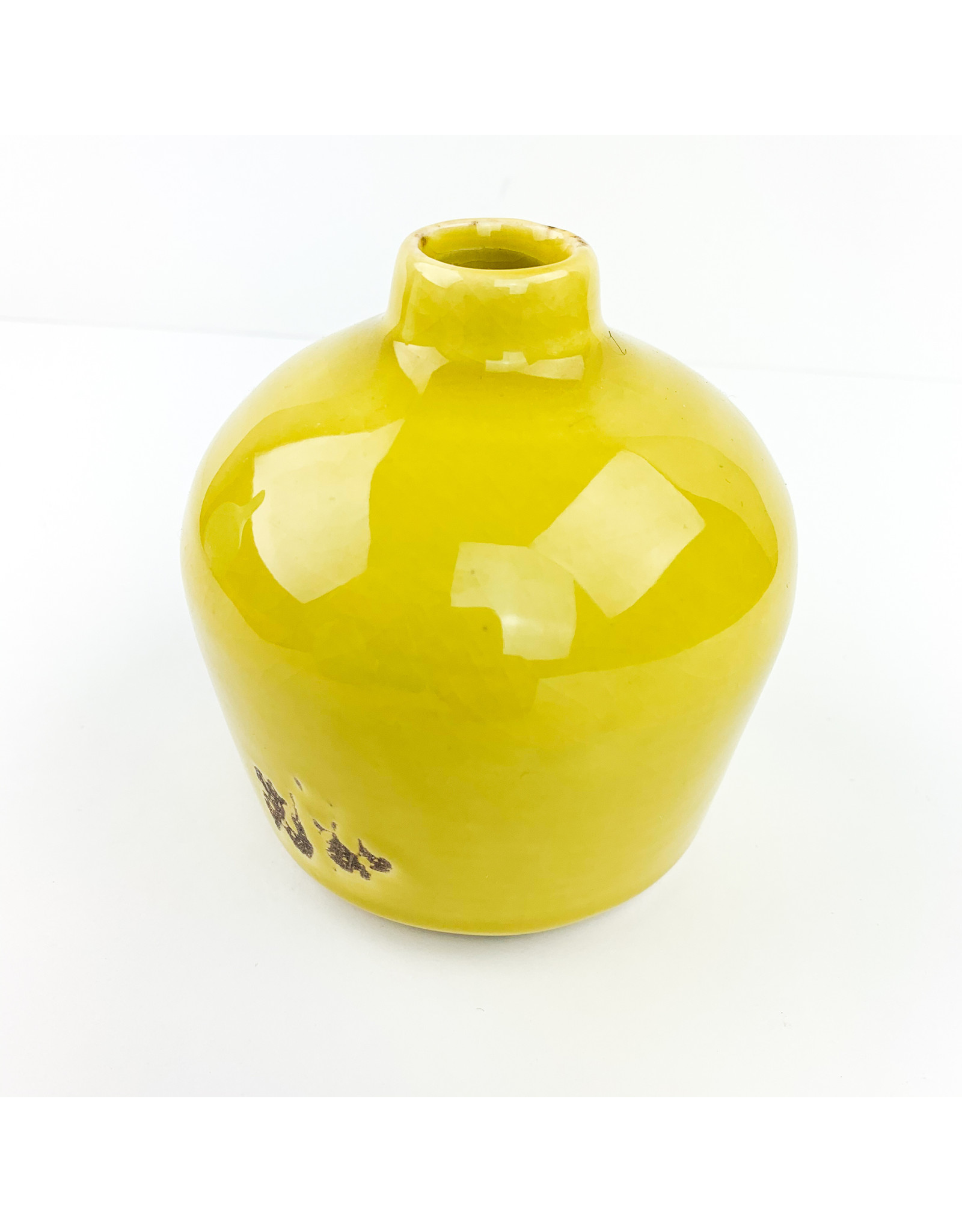Creative Co-Op Terra Cotta Vase Yellow
